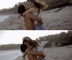 beach, girl, and boy image