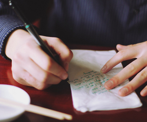 hands, writing, and love image