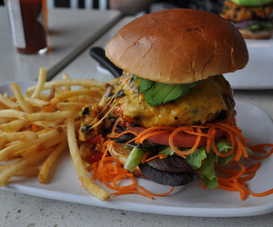 burger, food, and fries image