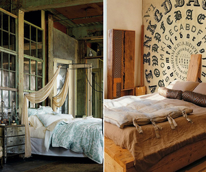 bed, decoration, and room image