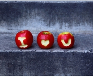 apple, love, and cute image