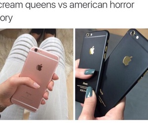 iphone, scream queens, and american horror story image