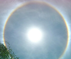 arco iris, cielo, and eclipse image