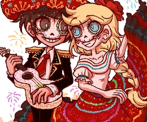 star butterfly, dia de muertos, and marco diaz image
