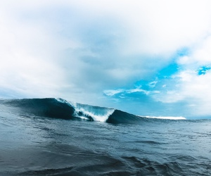 ocean, nature, and waves image