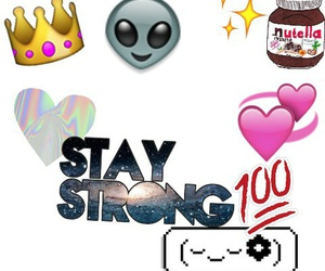 emoji, staystrong, and heart image