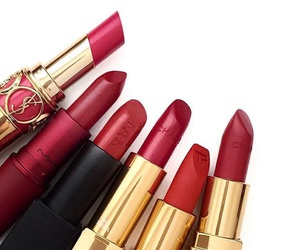 red, lipstick, and chanel image
