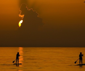 board, ocean, and sup image