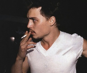 johnny depp, cigarette, and smoke image