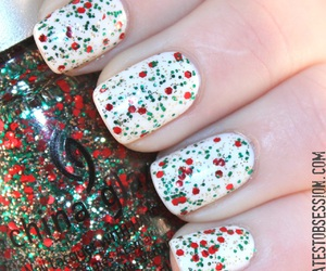 christmas, nails, and winter image