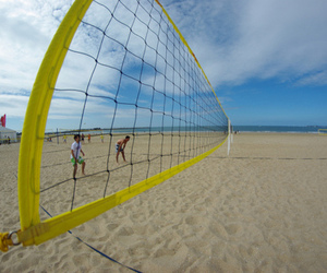 beach, photography, and volleyball image