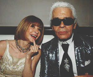 fashion, karl lagerfeld, and Anna Wintour image