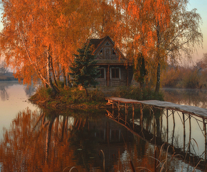 autumn, awesome, and cabin image