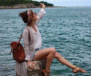 awsome, girl, and sea image
