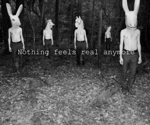 real, black and white, and nothing image