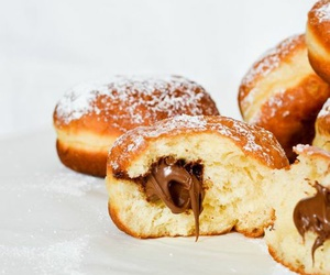 food, donuts, and nutella image