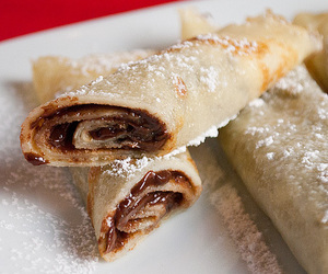 chocolate, nutella, and pancakes image