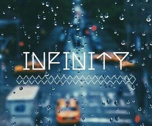 infinity, rain, and wallpaper image