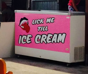 ice cream, pink, and funny image