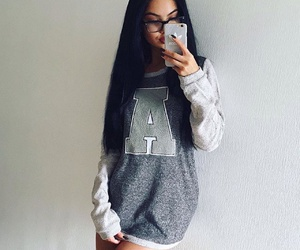 sweater, beauty, and hair image