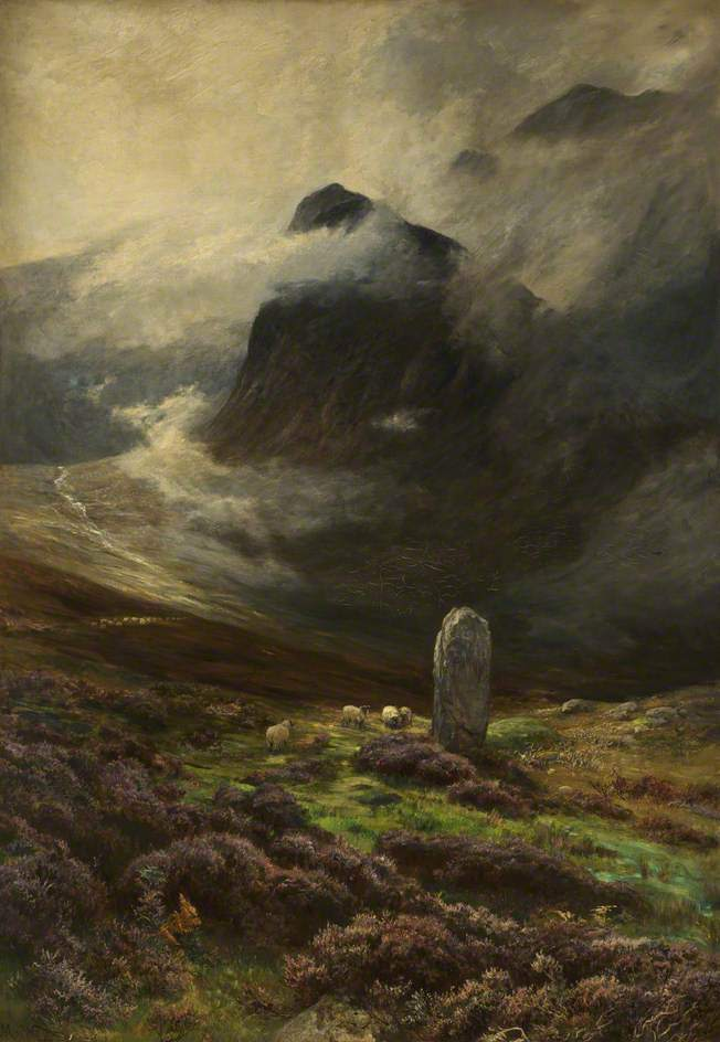 art, mist, and moor image