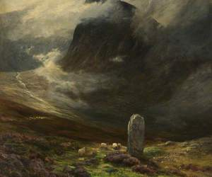 art, landscape, and moor image