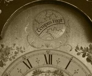 clock, vintage, and seppia image