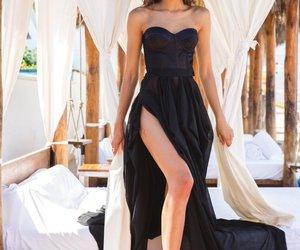 zendaya, dress, and black image