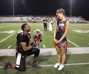 love, couple, and cheerleader image