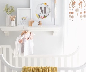 bed, white, and baby stuff image