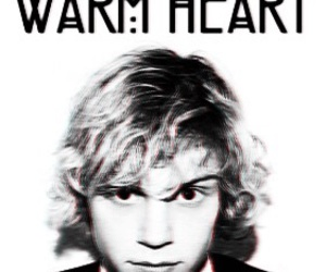black&white, quote, and evan peters image