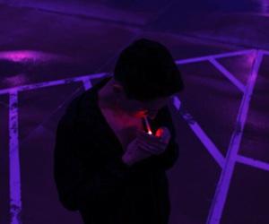 purple, boy, and aesthetic image