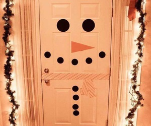 christmas, door, and diy image