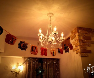 chandelier and christmas image