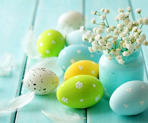 easter, eggs, and spring image