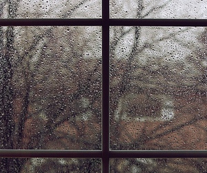 rain, window, and wallpaper image