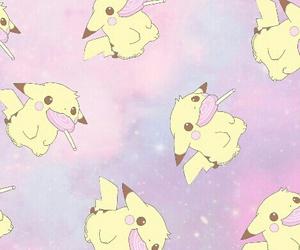 pikachu, galaxy, and kawaii image