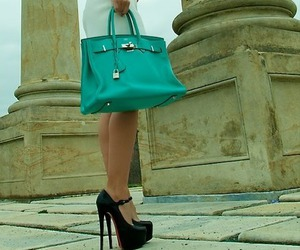 bag, heels, and shoes image