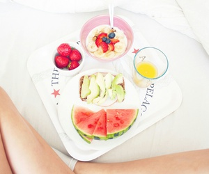 breakfast, drink, and FRUiTS image