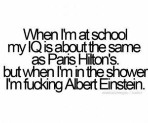 school, paris hilton, and iq image