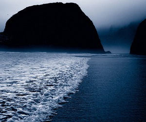 beautiful, water, and black image