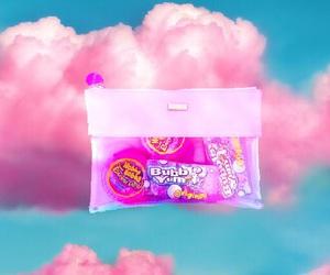 background, blue, and bubblegum image