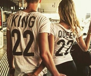 love, couple, and Queen image