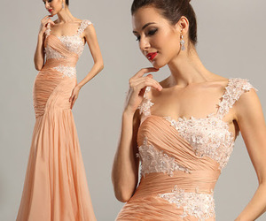 dress, lace, and gown image