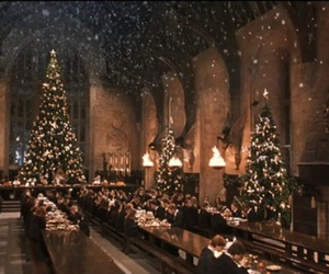 christmas, harry potter, and snow image