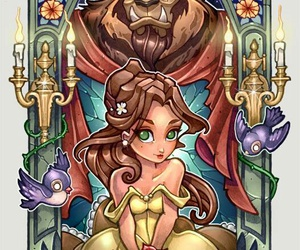 disney, beast, and belle image