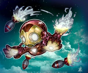fanart, illustration, and iron man image