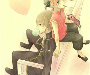 anime, kagura, and couple image
