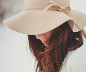 hat and woman image