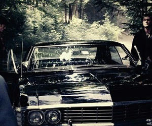 car, impala, and supernatural image